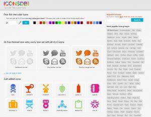 IconsDB voor gratis iconen